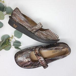 ALEGRIA Metallic Mary Jane Shoes 39